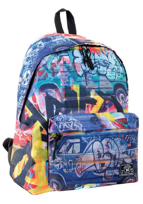 Стильный городской рюкзак с граффити