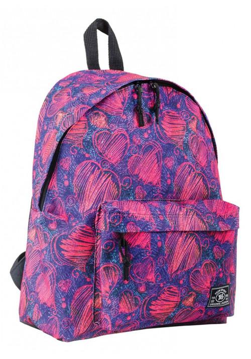 Недорогой женский рюкзак с сердечками