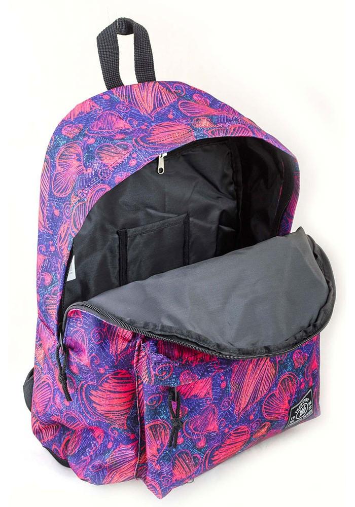 Стильный рюкзак с сердечками как носить alice рюкзак