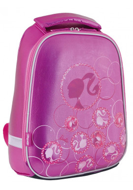 Фото Сиреневый каркасный рюкзак школьный для девочки H-24 Barbie - Фото