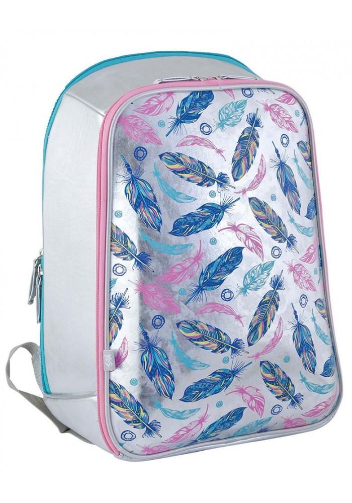 Модный рюкзак каркасный для школы H-23 Feather - Картинка