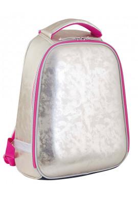 Фото Золотистый ранец школьный каркасный для девочки YES H-24 Gold - Фото 1