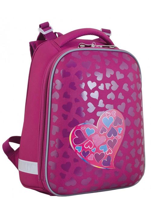 Рюкзак школьный каркасный для девочки YES H-12 Heart to heart - Фото спереди