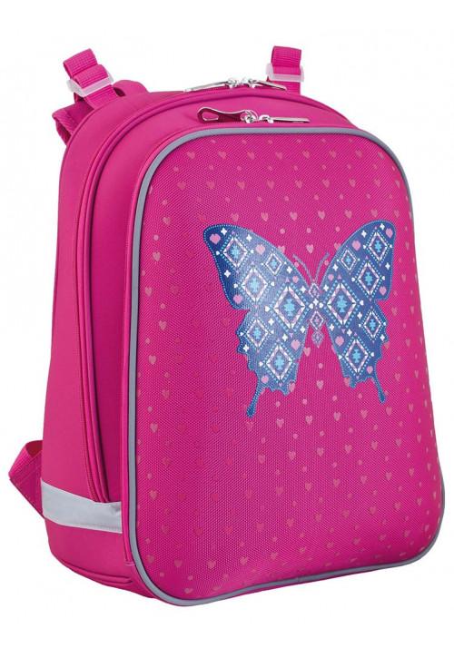 Рюкзак школьный с бабочкой для девочки YES H-12 Centre butterfly