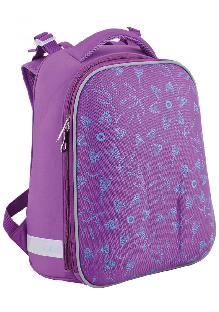 Фиолетовый школьный рюкзак YES H-12 D68 Тracery - Фото