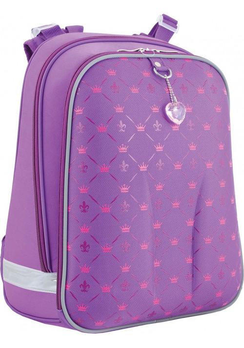 Фиолетовый школьный рюкзак для девочки YES H-12 Pattern