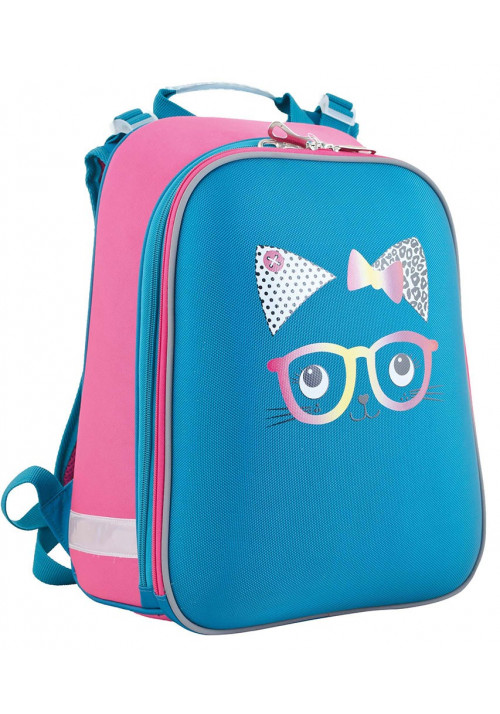 Бирюзовый школьный рюкзак для девочки YES H-12 Meow - Картинка 1