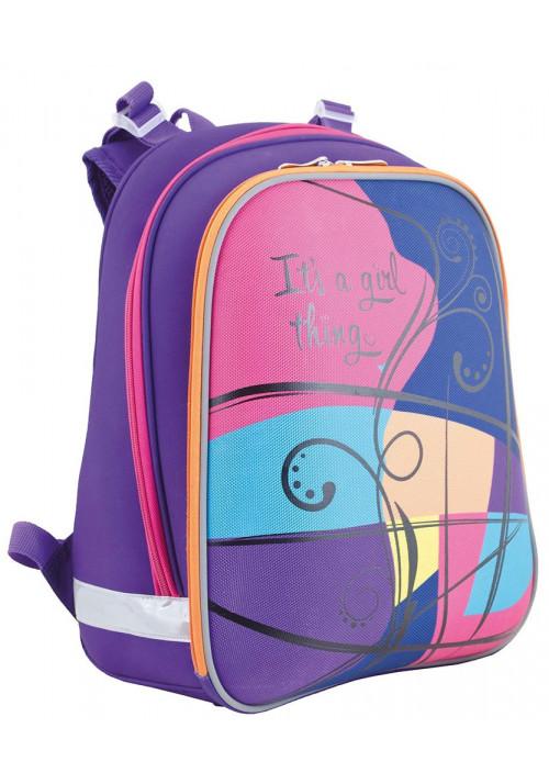 Цветной школьный каркасный рюкзак YES H-12 Colours