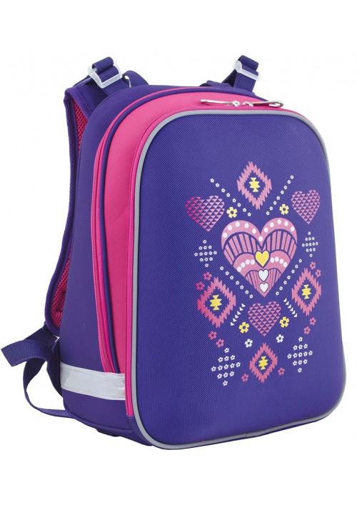 Школьный каркасный рюкзак для девочки с орнаментом YES H-12 Ornament