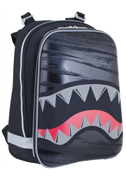 Рюкзак школьный каркасный с акулой для мальчика YES H-12 Shark