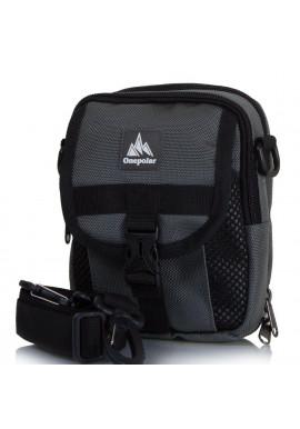 Фото Мужская сумка на плечо ONEPOLAR текстиль W3176-grey
