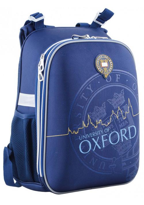 Синий каркасный рюкзак для мальчика YES H-12 Oxford - Фото