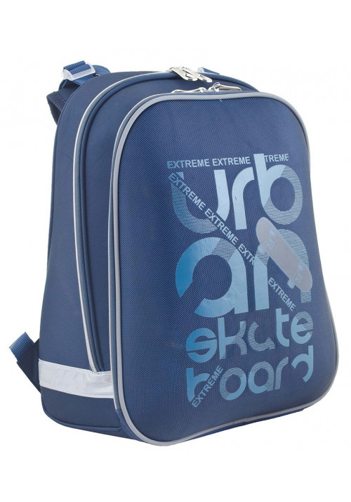 Синий школьный каркасный ранец YES H-12 Urban