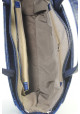 Синяя матовая женская сумка с молнией - Фото сумки 6