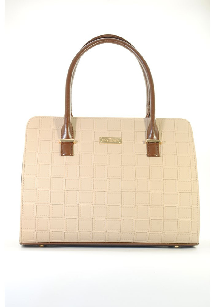 Плетеная бежевая женская сумка Betty Pretty 95-E1298