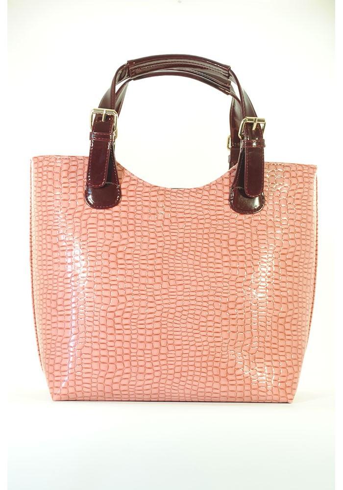 Красивая лаковая женская сумка шопер 48-ROZ