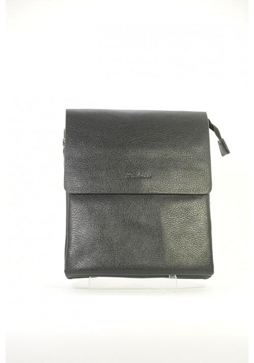 Черная фактурная мужская сумка через плечо Fashion