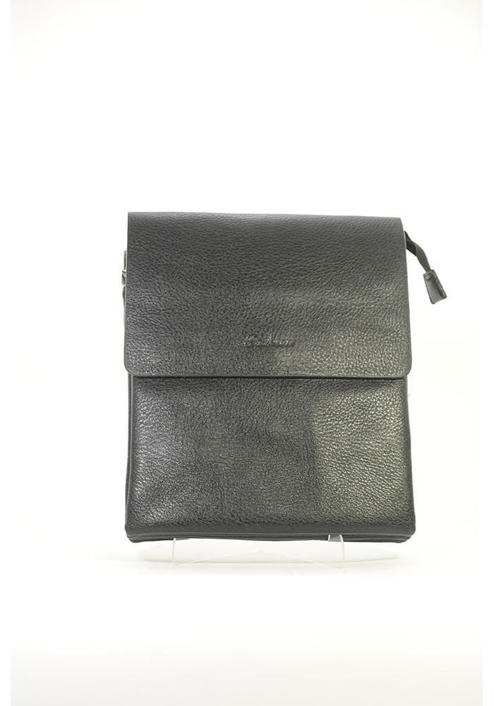 Черная текстурированная мужская сумка через плечо Fashion - Фото сумки