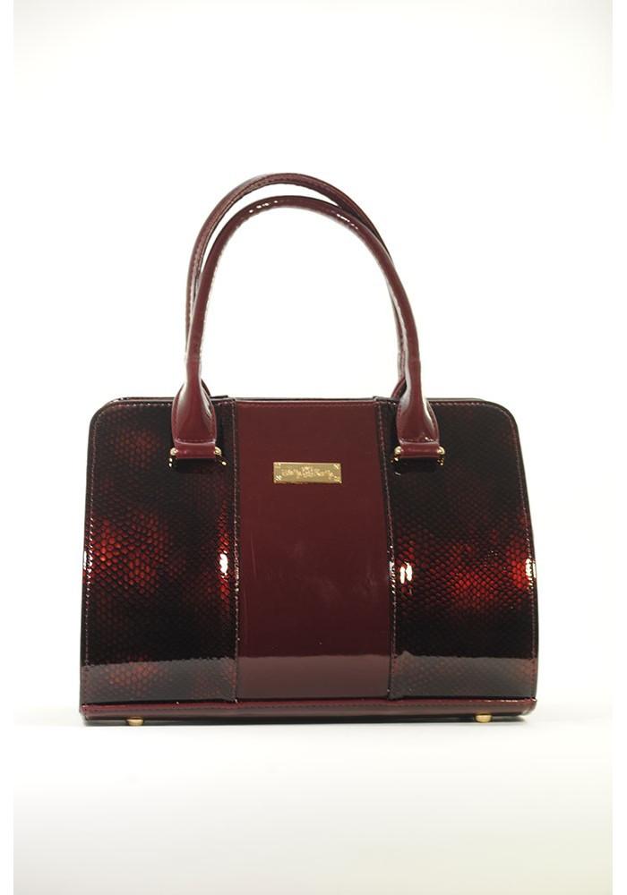 Фото Бордовая лаковая женская сумка 16TL-BORDO-LAK