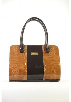 Фото Коричневая лаковая женская сумка 16TL-KOR-LAK