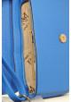 Синий женский клатч с бантом фото - 4