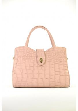 Фото Светлая летняя женская сумка кроко 71-CROCO