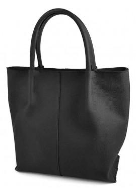 Фото Женская кожаная сумка Камелия черный шопер М72 Blakck