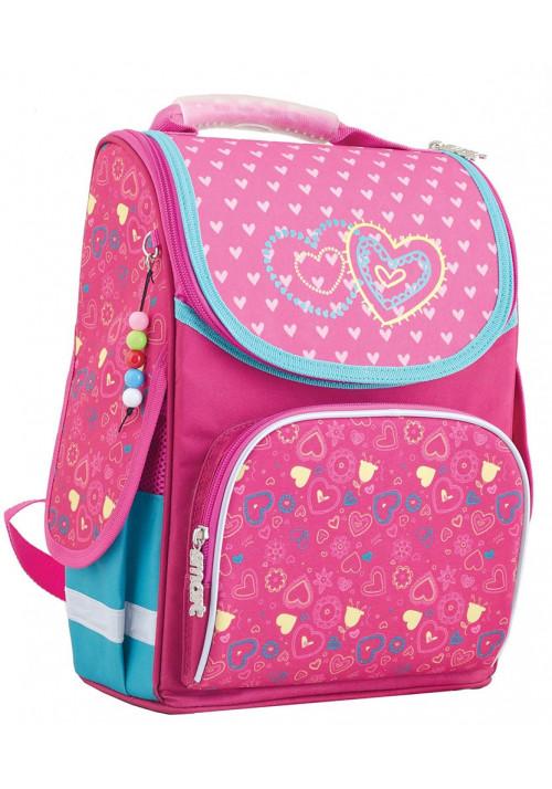 """Школьный рюкзак каркасный с сердечками """"Smart"""" PG-11 2 hearts"""
