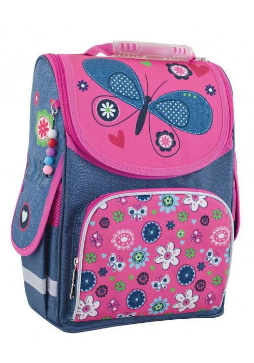 "Школьный рюкзак каркасный с бабочками ""Smart"" PG-11 Jeans butterfly"