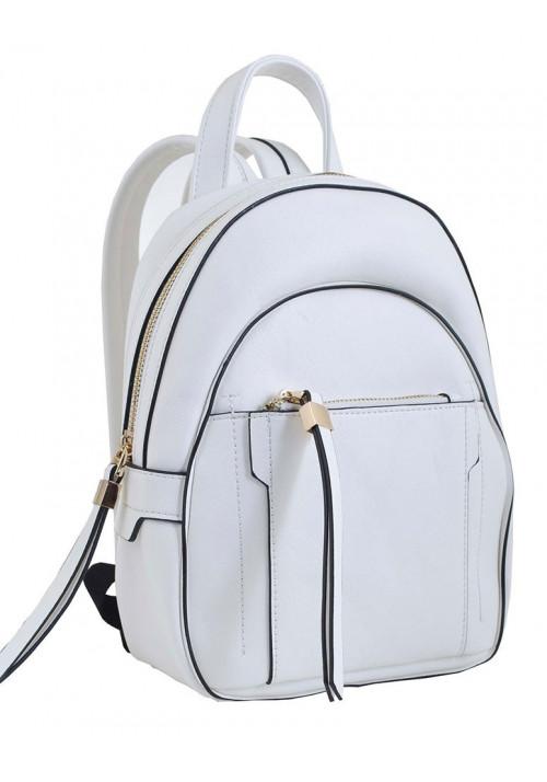 Маленький белый молодежный рюкзак YES WEEKEND