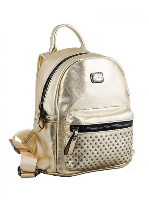 Золотой молодежный рюкзак маленького размера YES WEEKEND