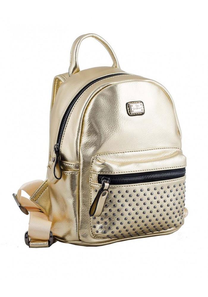 Золотистый женский рюкзак небольшого размера YES WEEKEND
