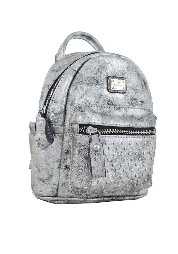 Серый женский рюкзак маленького размера YES WEEKEND