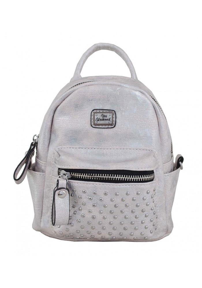 Маленький серый рюкзак женский YES WEEKEND