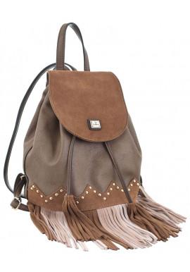 Фото Коричневый молодежный рюкзак с бахромой YES WEEKEND