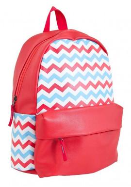 Фото Подростковый рюкзак YES WEEKEND красного цвета