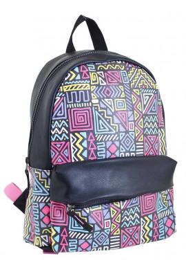 Фото Подростковый рюкзак из искусственной кожи с узором YES WEEKEND