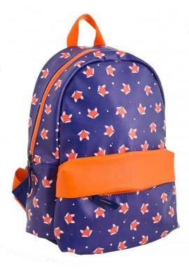 Фото Фиолетовый рюкзак из искусственной кожи с лисичками YES WEEKEND