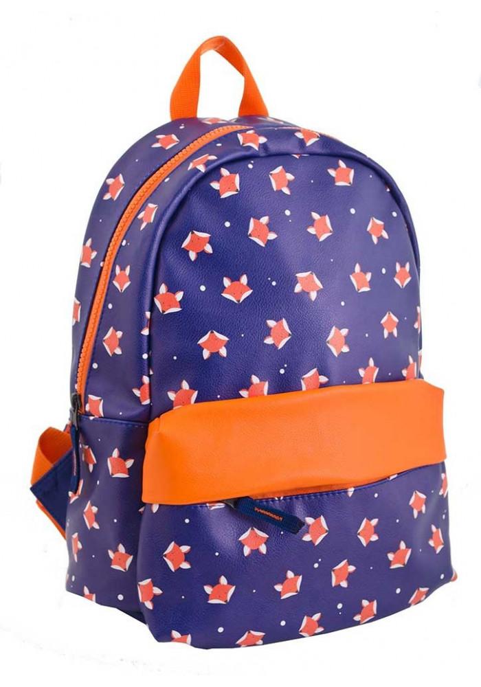 Фиолетовый рюкзак из искусственной кожи с лисичками YES WEEKEND