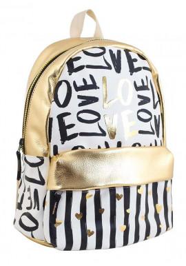 Фото Модный золотой молодежный рюкзак YES WEEKEND
