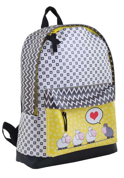 Модный молодежный рюкзак с овечками YES WEEKEND