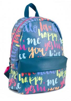 Фото Синий подростковый рюкзак среднего размера YES WEEKEND