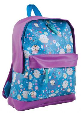 Фото Синий подростковый рюкзак с прикольным рисунком YES WEEKEND