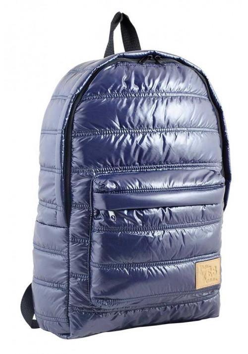 Дутый фиолетовый молодежный рюкзак YES OXYGEN