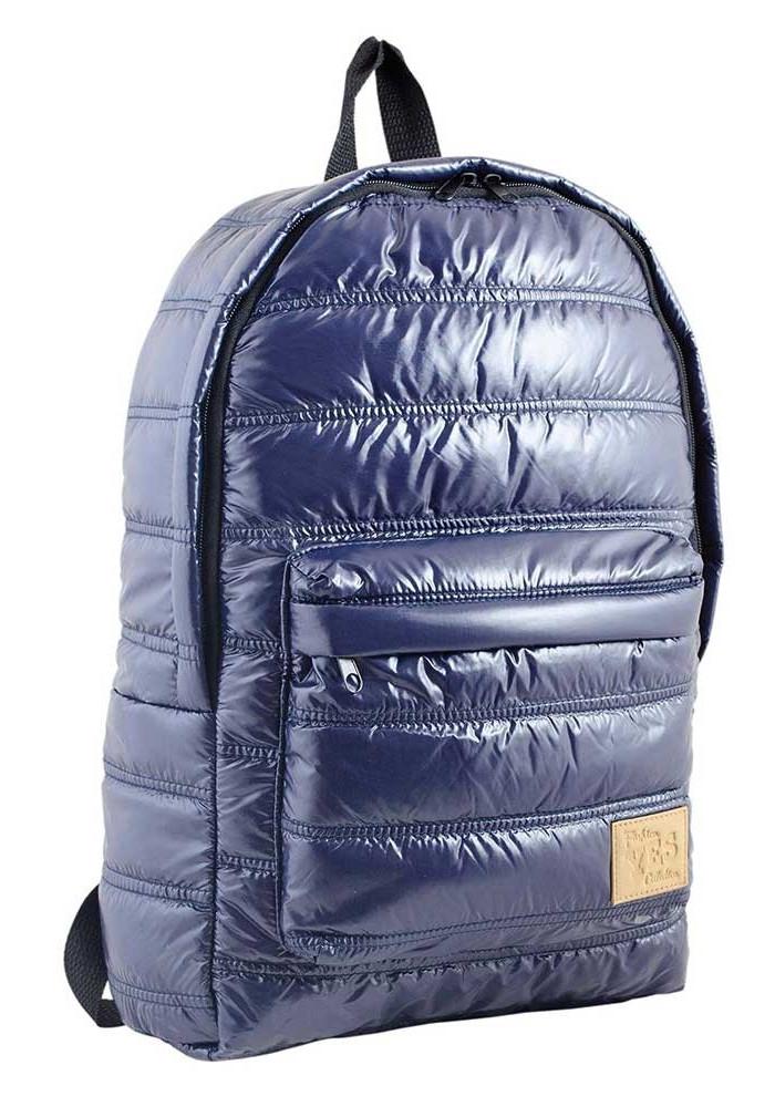 Дутый фиолетовый молодежный рюкзак OXYGEN