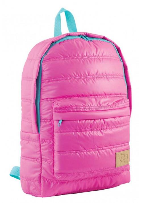 Дутый розовый молодежный рюкзак ST-15 YES OXYGEN