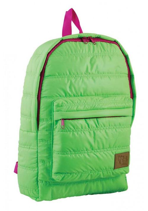 Дутый зеленый молодежный рюкзак ST-15 YES OXYGEN