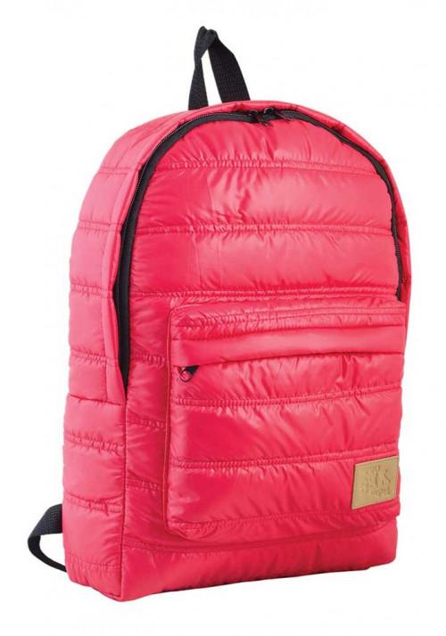 Дутый красный молодежный рюкзак ST-15 YES OXYGEN