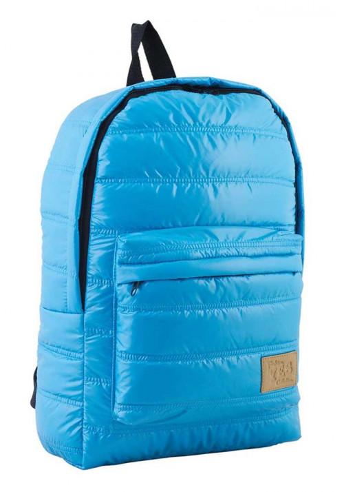 Дутый голубой молодежный рюкзак ST-15 YES OXYGEN