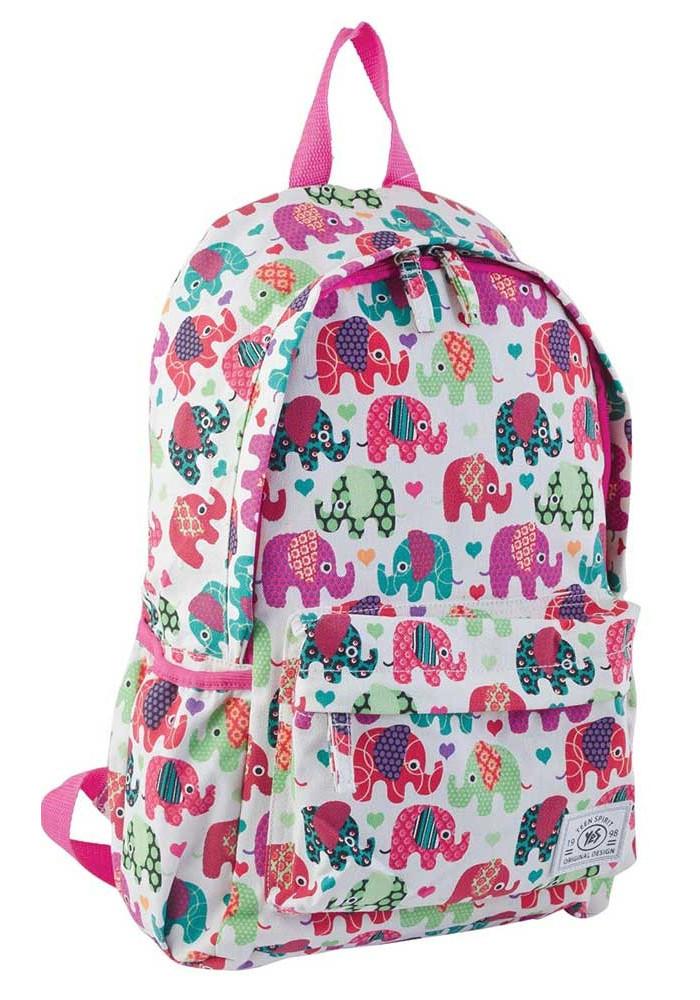 Светлый молодежный рюкзак со слониками YES ST-15 Elephant
